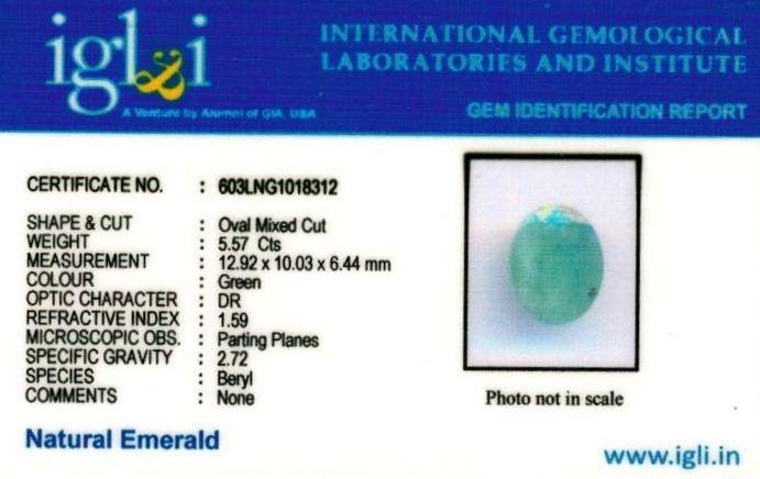 6.25-ratti-certified-emerald Certificate (ID-386)