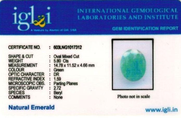 6.25-ratti-certified-emerald Certificate (ID-388)