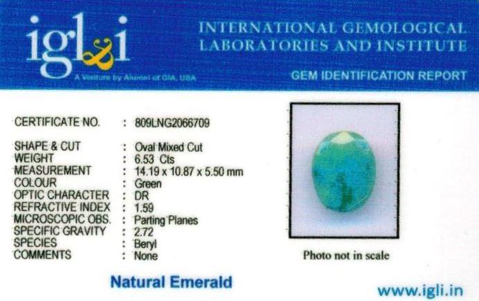 7.25-ratti-certified-emerald Certificate (ID-389)