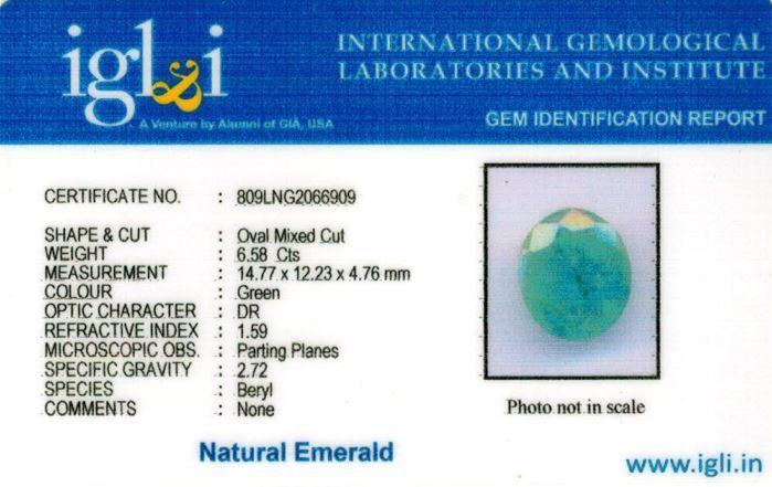 7.25-ratti-certified-emerald Certificate (ID-390)