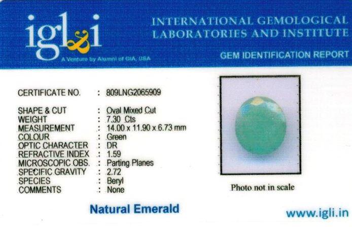8.25-ratti-certified-emerald Certificate (ID-393)