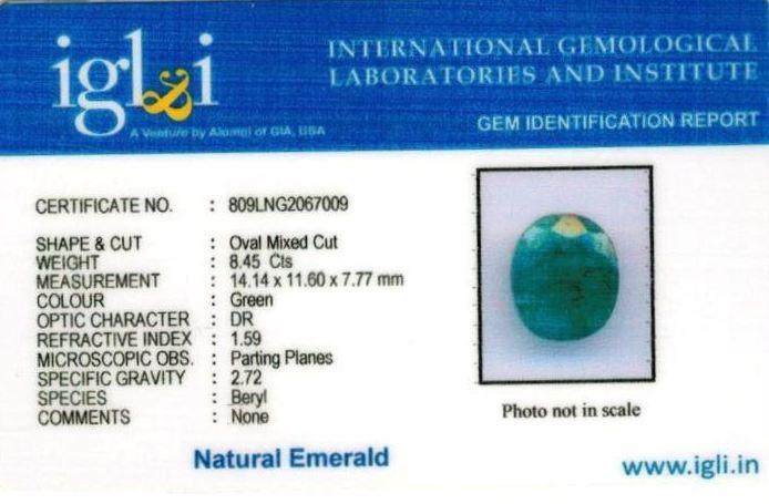9.25-ratti-certified-emerald Certificate (ID-395)