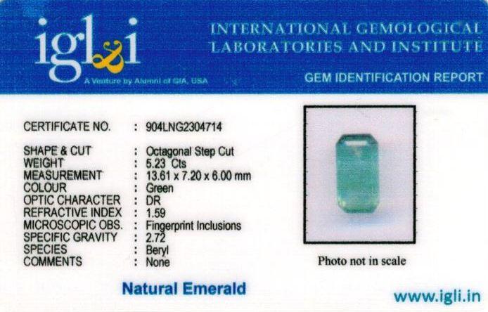 6-ratti-certified-emerald Certificate (ID-401)