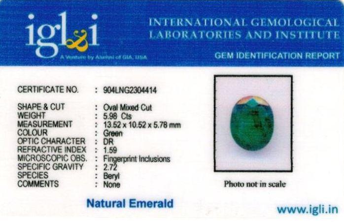 7-ratti-certified-emerald Certificate (ID-403)