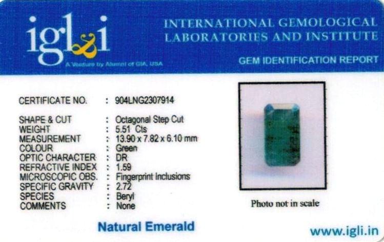 6.25-ratti-certified-emerald Certificate (ID-405)