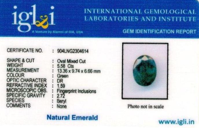 6.25-ratti-certified-emerald Certificate (ID-402)