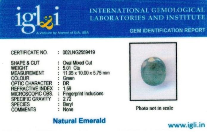 6-ratti-certified-emerald Certificate (ID-419)
