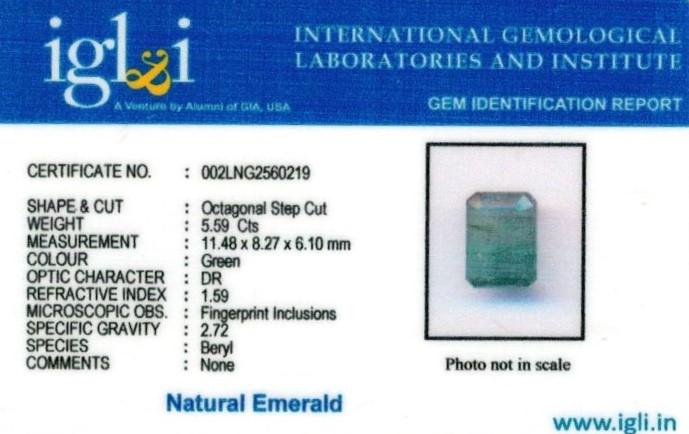 6.25-ratti-certified-emerald Certificate (ID-421)
