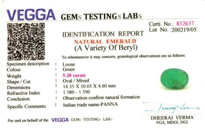 6-ratti-certified-emerald Certificate (ID-426)