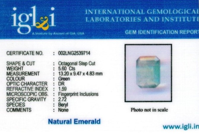6.25-ratti-certified-emerald Certificate (ID-410)