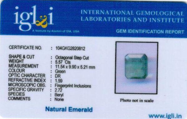 6.25-ratti-certified-emerald Certificate (ID-441)