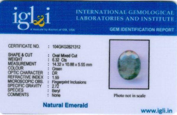 7.25-ratti-certified-emerald Certificate (ID-445)