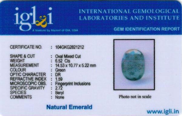 7.25-ratti-certified-emerald Certificate (ID-446)