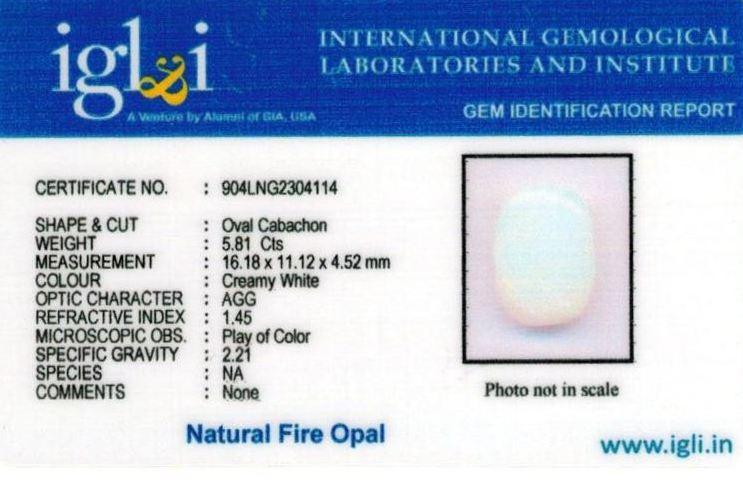 6.25-ratti-certified-fire-opal Certificate (ID-213)