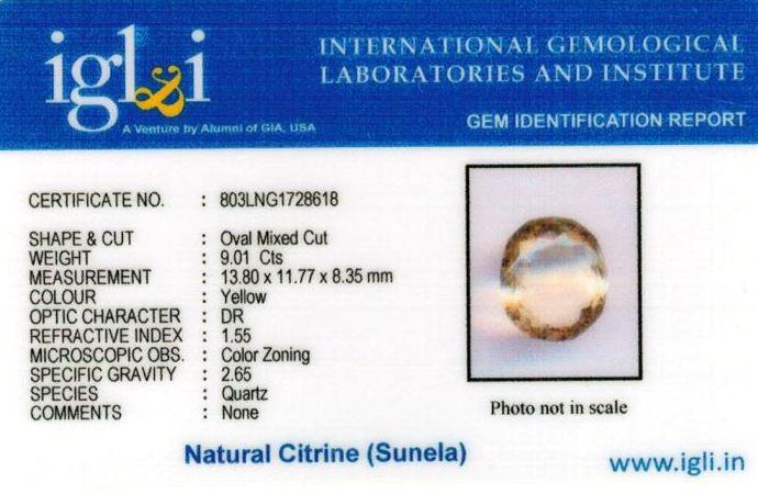 10.25-ratti-certified-citrine-sunela-Stone Certificate (ID-137)