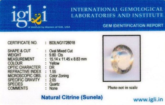11-ratti-certified-citrine-sunela-Stone Certificate (ID-141)