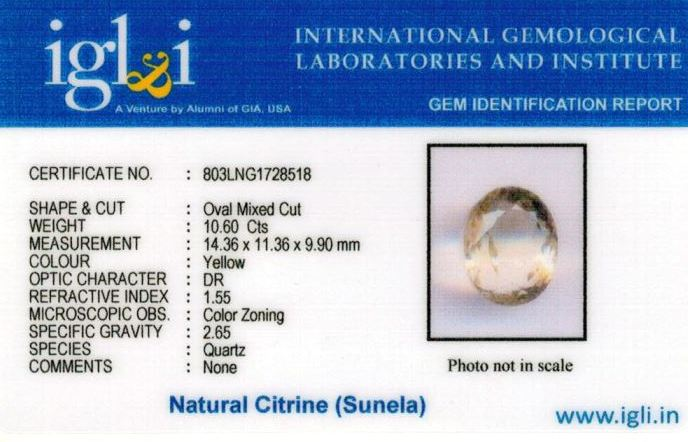12-ratti-certified-citrine-sunela-Stone Certificate (ID-109)