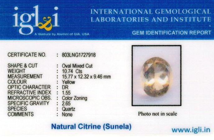 12-ratti-certified-citrine-sunela-Stone Certificate (ID-111)