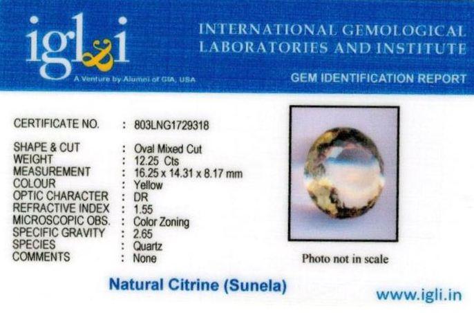 14-ratti-certified-citrine-sunela-Stone Certificate (ID-116)