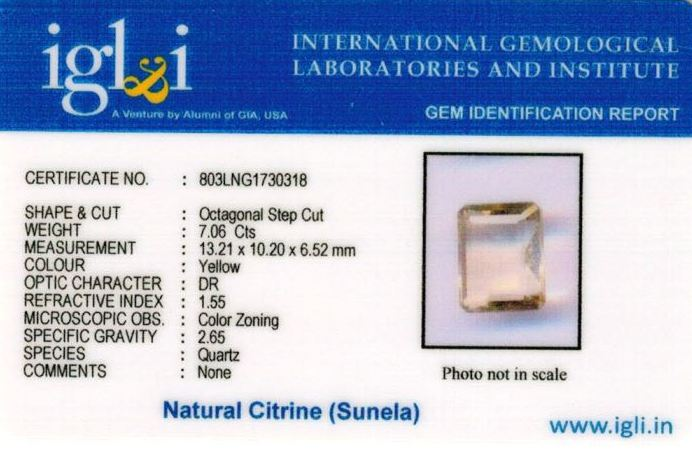 8-ratti-certified-citrine-sunela-Stone Certificate (ID-126)