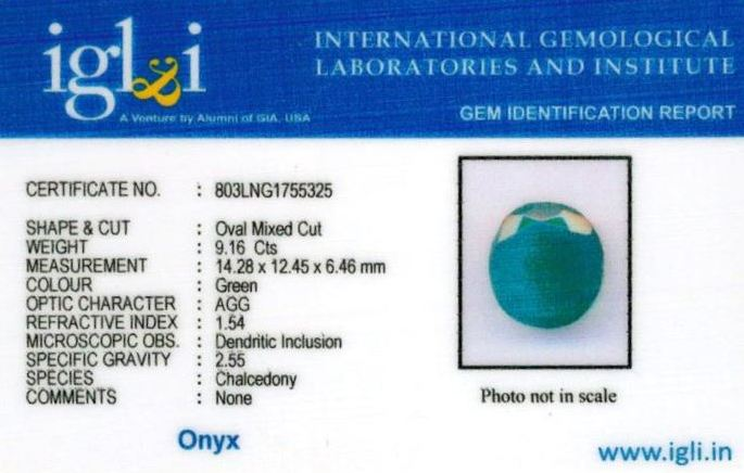 10.25-ratti-certified-greenonyx-stone Certificate (ID-139)