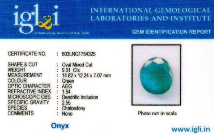 10.25-ratti-certified-greenonyx-stone Certificate (ID-138)