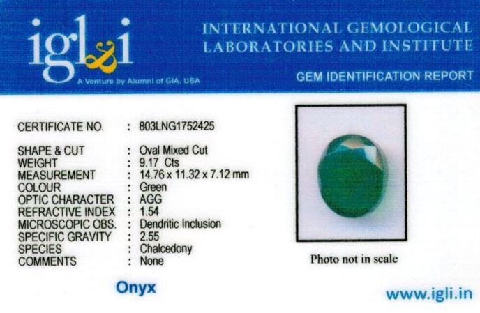 10.25-ratti-certified-greenonyx-stone Certificate (ID-140)