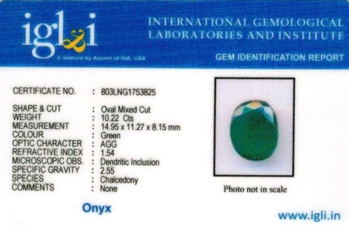 11.25-ratti-certified-greenonyx-stone Certificate (ID-107)