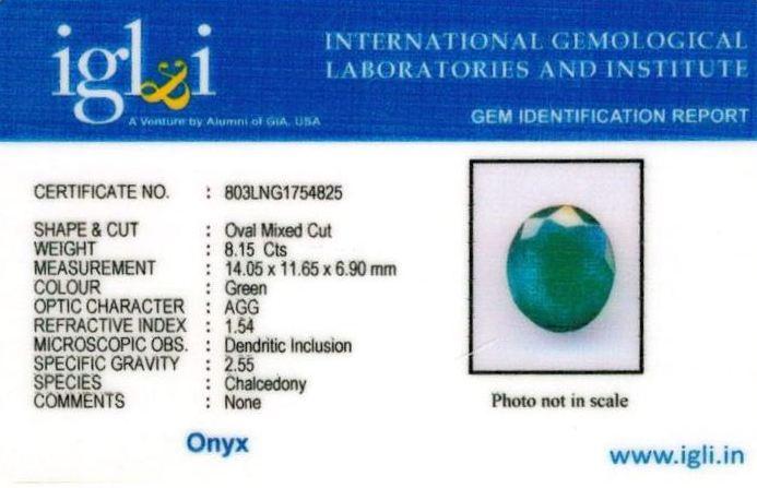 9.25-ratti-certified-greenonyx-stone Certificate (ID-129)