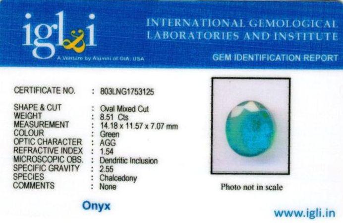 9.25-ratti-certified-greenonyx-stone Certificate (ID-133)