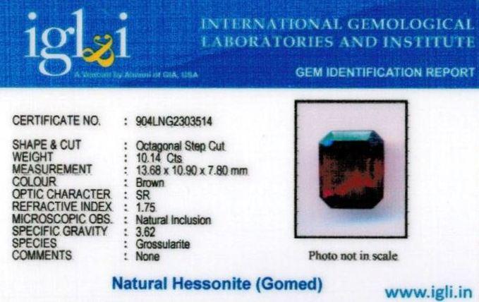 11.25-ratti-certified-hessonite Certificate (ID-315)