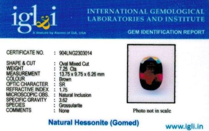 8.25-ratti-certified-hessonite Certificate (ID-317)