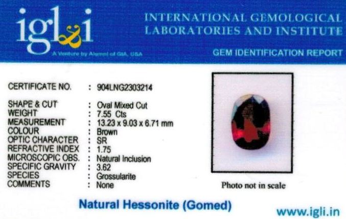 8.25-ratti-certified-hessonite Certificate (ID-321)