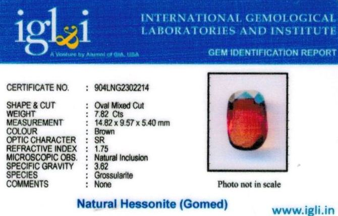 9-ratti-certified-hessonite Certificate (ID-323)