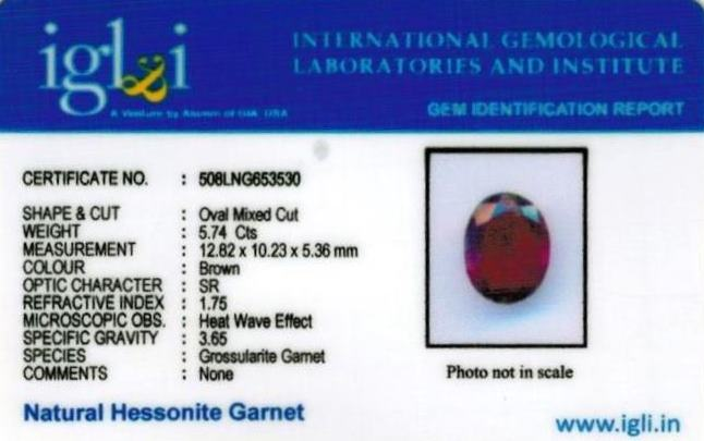 6.38-ratti-certified-hessonite-gomed-stone Certificate (ID-121)