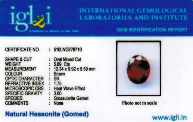 6.54-ratti-certified-hessonite-gomed-stone Certificate (ID-122)