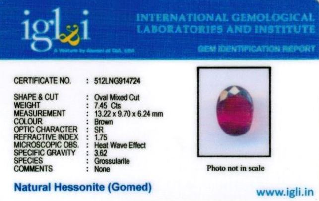 8.28-ratti-certified-hessonite-gomed-stone Certificate (ID-129)