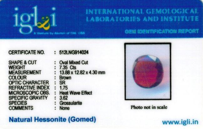 8.17-ratti-certified-hessonite-gomed-stone Certificate (ID-128)