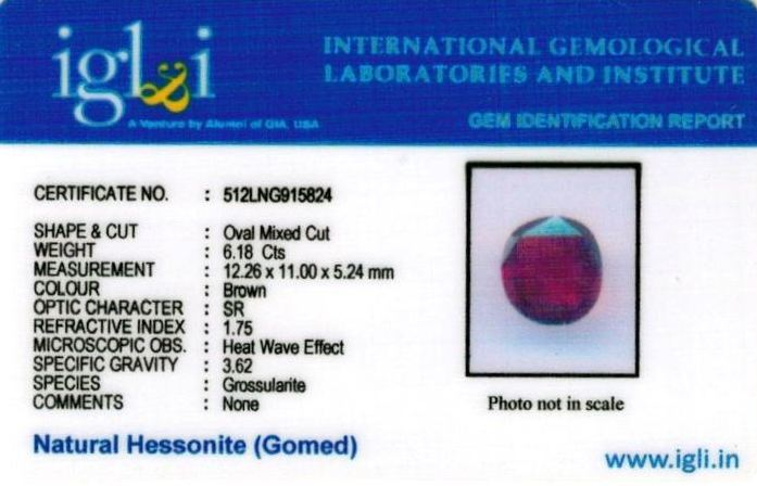 7-ratti-certified-hessonite-gomed-stone Certificate (ID-146)