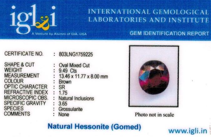11-ratti-certified-hessonite-gomed-stone Certificate (ID-191)