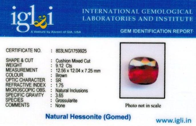 10.25-ratti-certified-hessonite-gomed-stone Certificate (ID-199)