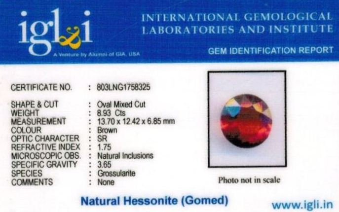 10-ratti-certified-hessonite-gomed-stone Certificate (ID-186)