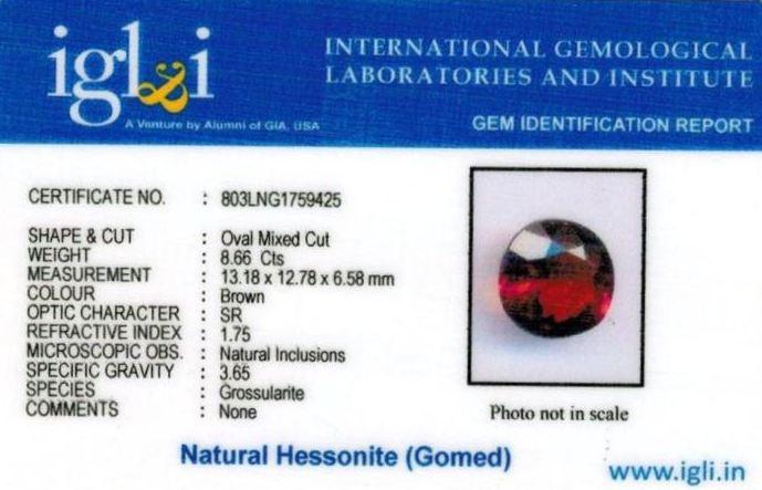 10-ratti-certified-hessonite-gomed-stone Certificate (ID-198)