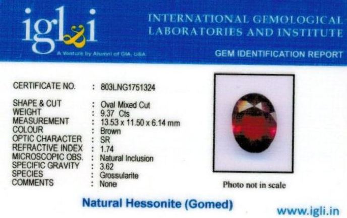 10.25-ratti-certified-hessonite-gomed-stone Certificate (ID-190)