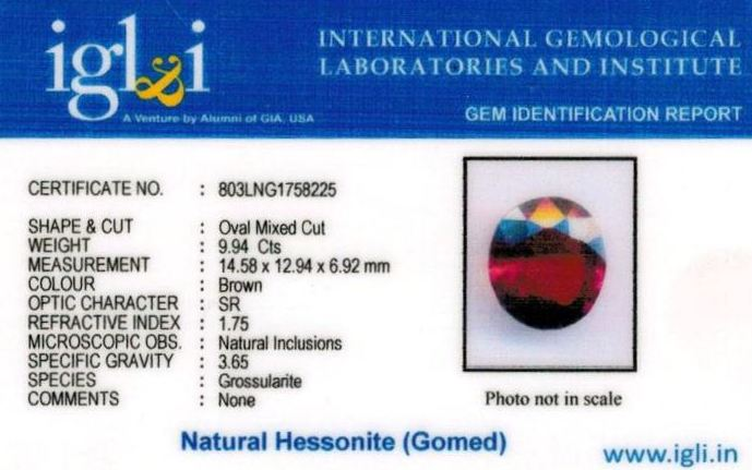 11.25-ratti-certified-hessonite-gomed-stone Certificate (ID-194)