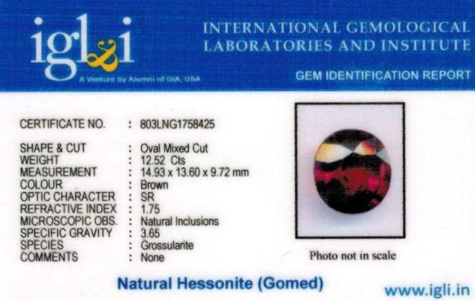 14-ratti-certified-hessonite-gomed-stone Certificate (ID-174)