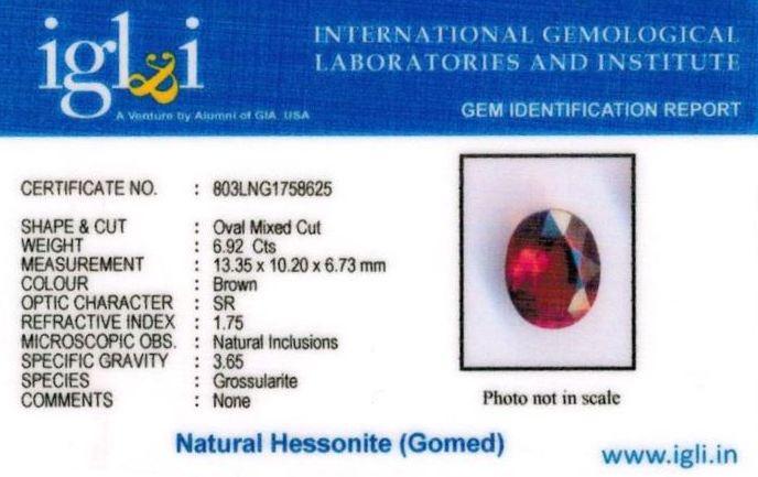 8-ratti-certified-hessonite-gomed-stone Certificate (ID-177)