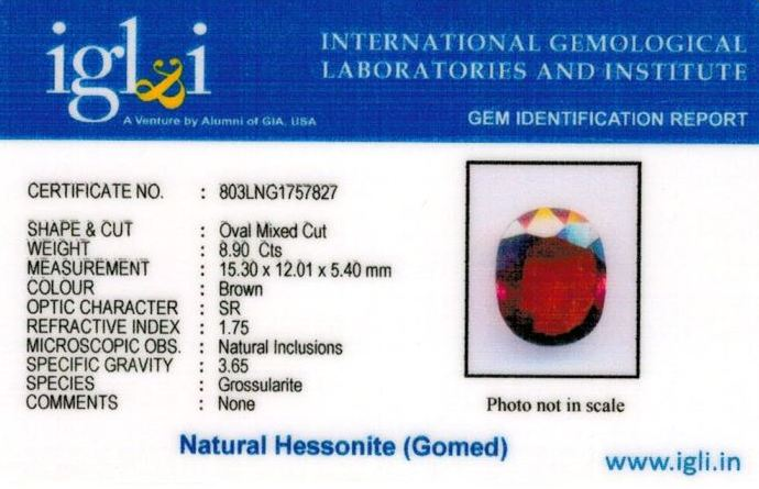 10-ratti-certified-hessonite-gomed-stone Certificate (ID-185)