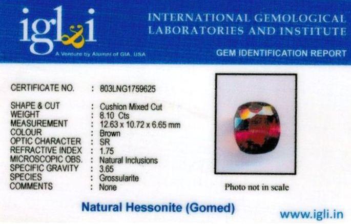 9.25-ratti-certified-hessonite-gomed-stone Certificate (ID-197)