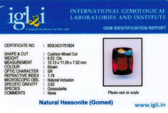 10-ratti-certified-hessonite-gomed-stone Certificate (ID-183)